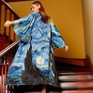 Blackmilk Starry Night Swan Kimono